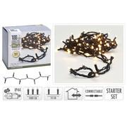 S.I.A Kerstverlichting: Verleng set koppelbare lichtslinger 10 M - 100 LED