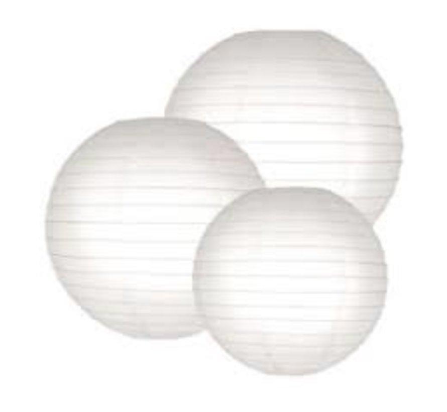 Witte lampion voor buiten Ø25cm