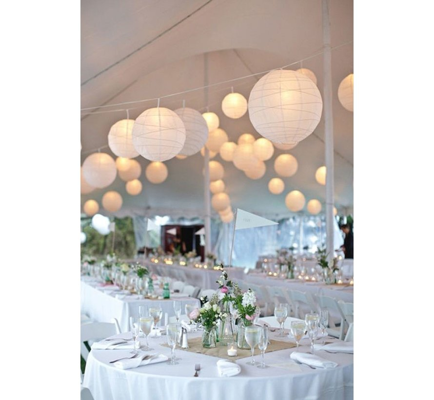 Witte lampion voor buiten Ø50cm