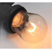 Gebogen LED Filament lamp 1W - transparant - 2200K
