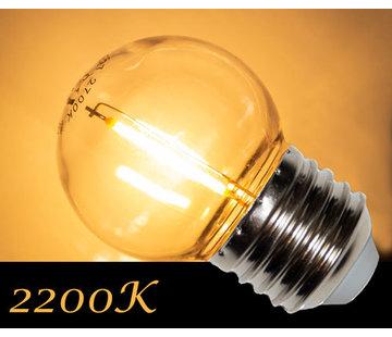 Amlux LED Filament kogellamp 1W - transparant - 2200K