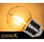 LED Filament kogellamp 1W - transparant - 2200K
