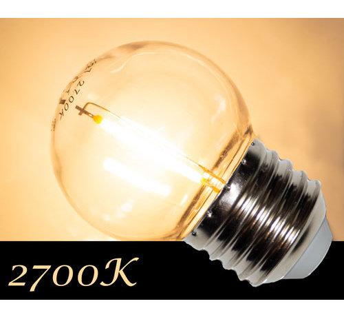Amlux LED Filament kogellamp 1W - transparant - 2700K