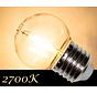 LED Filament kogellamp 1W - transparant - 2700K