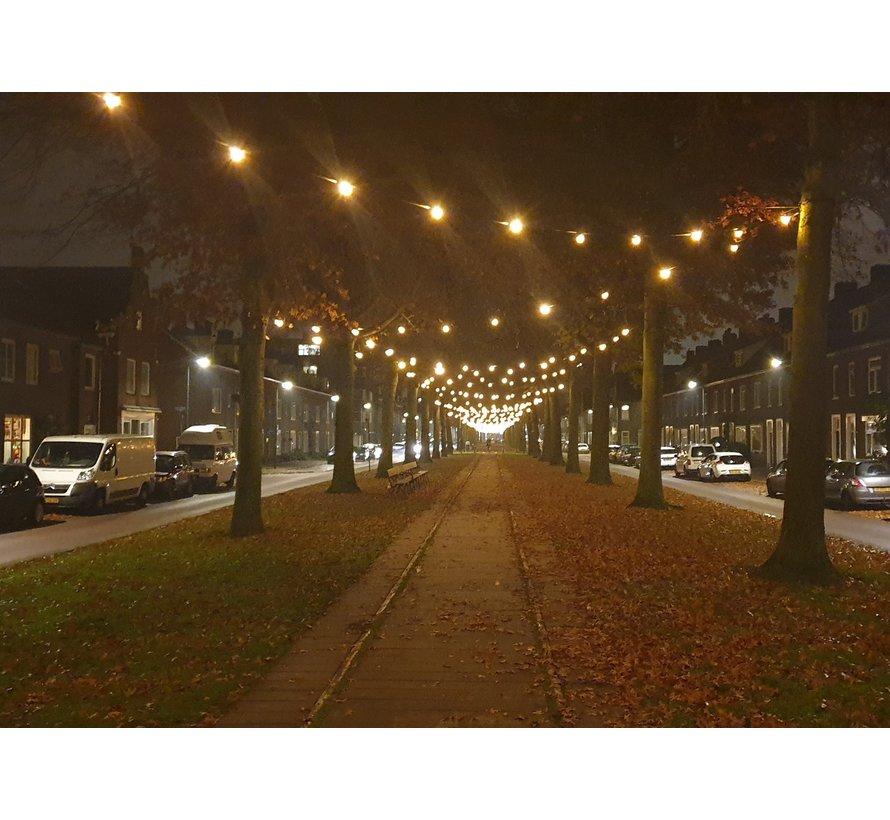 LED kogellamp - 1,5W - warm wit - witte kap - E27 2650K