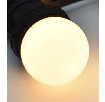 LED kogellamp 1,5W - witte kap - E27 warm wit