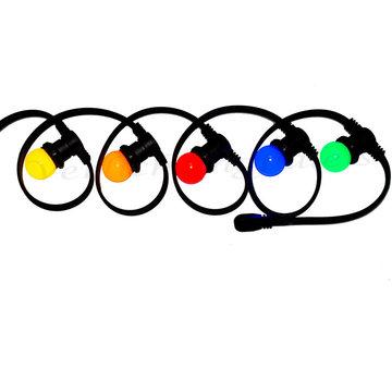 Amlux prikkabel - 100 meter met 100 LED lampen  (5 kleuren)
