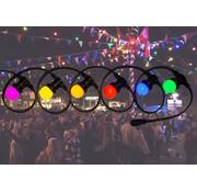 Amlux prikkabel - 20 meter met 60 LED lampen  (6 kleuren)