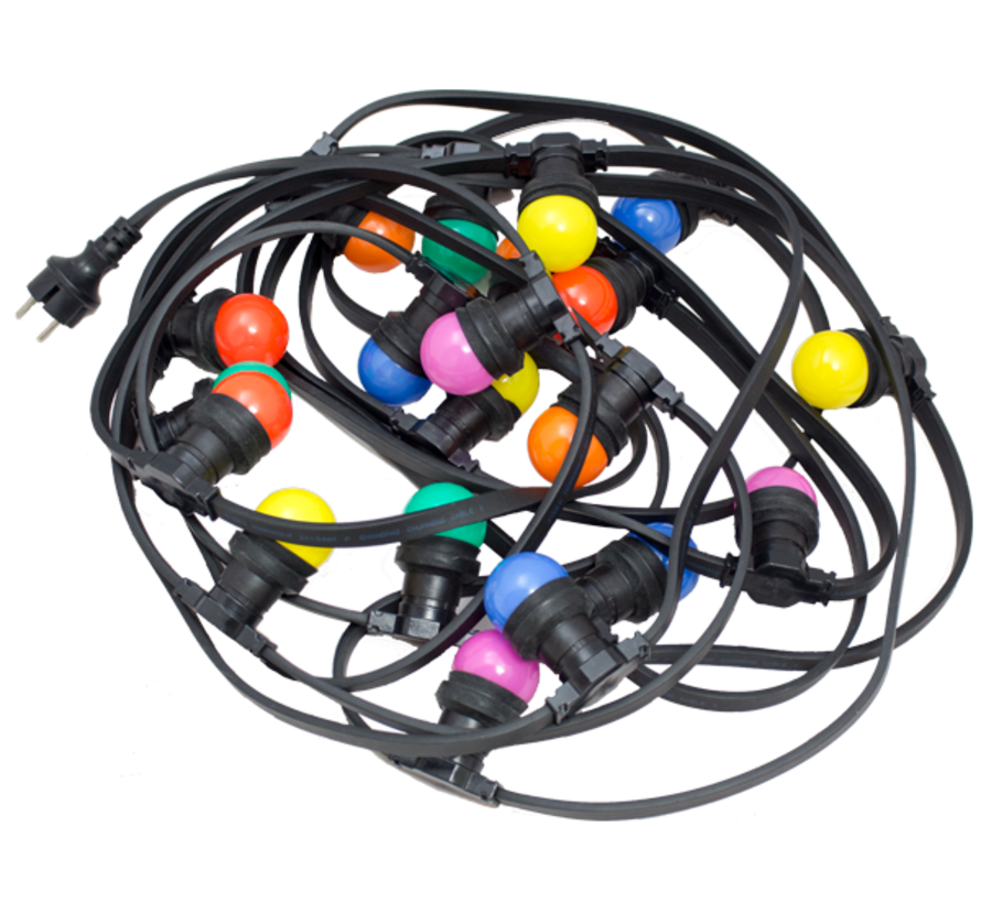 prikkabel - 50 meter met 100 LED lampen  (6 kleuren)