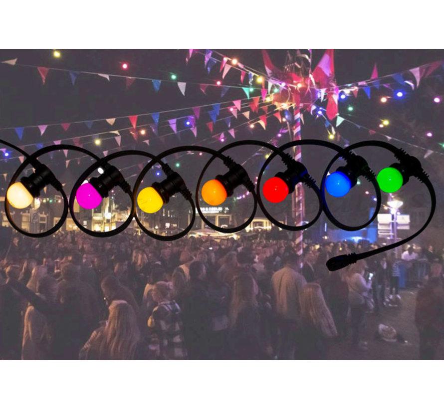 prikkabel - 25 meter met 25 LED lampen  (7 kleuren)