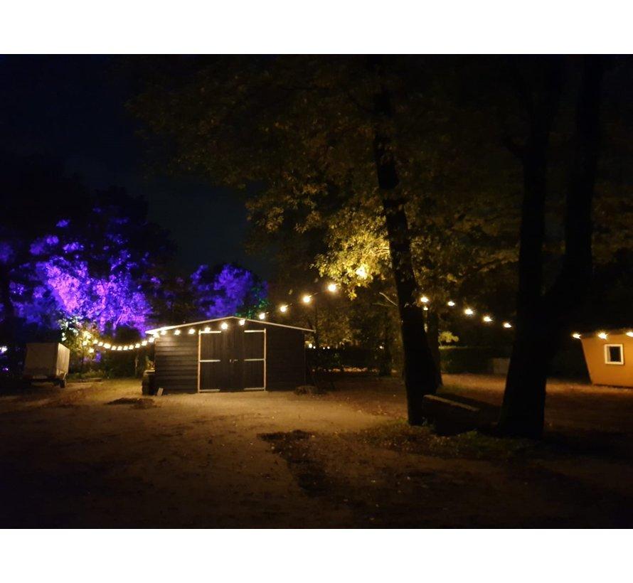 prikkabel - 10 meter met 10 dimbare LED lampen  (7 kleuren)
