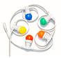 Witte prikkabel 20 meter met 20 gekleurde LED lampen in 5 kleuren mix