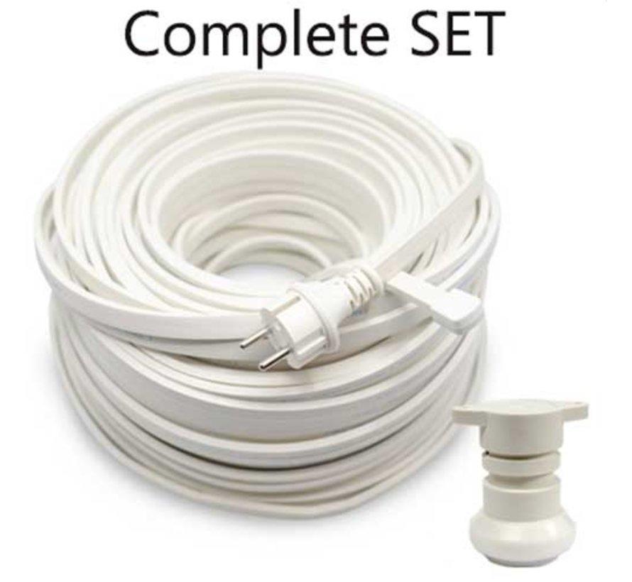 Doe het zelf Set - 10 meter Wit
