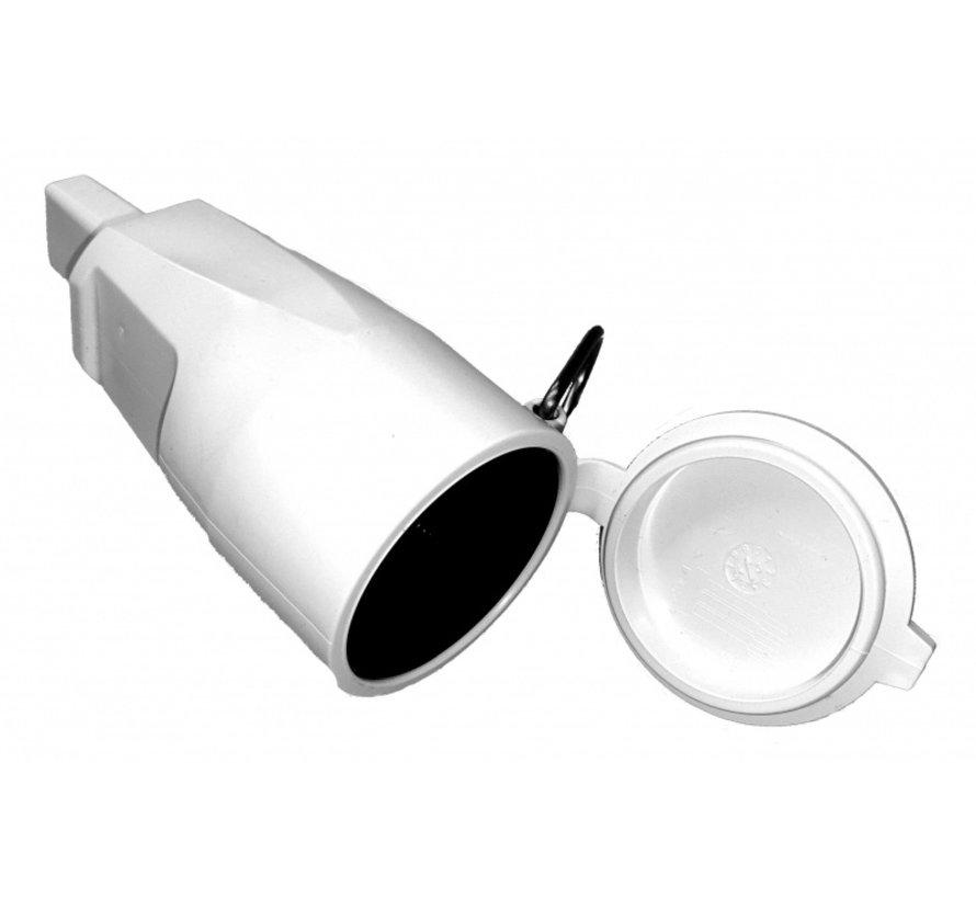 Witte contrastekker voor Prikkabel
