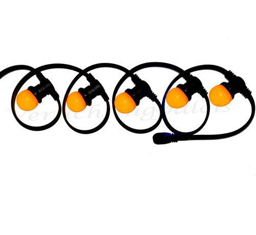 Amlux EK2021 - prikkabel met oranje LED lampen 1W - E27 - Copy