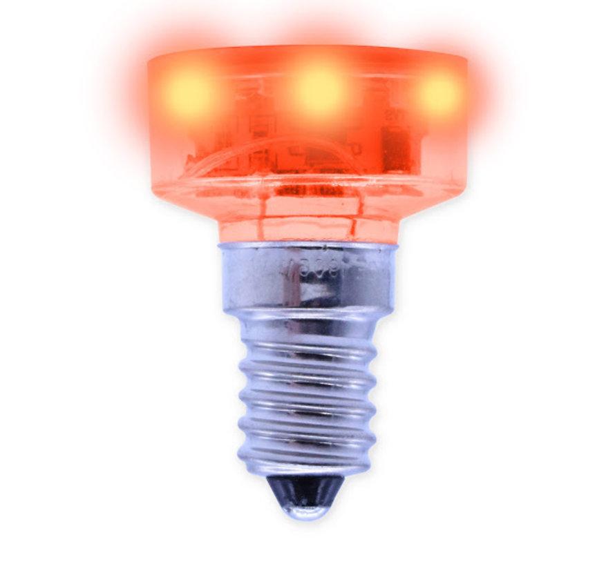 E14 - LED lamp rood voor kermisverlichting