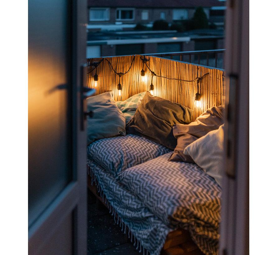 Premium Patio lichtslinger starter kit 8 meter  - 10 lampen