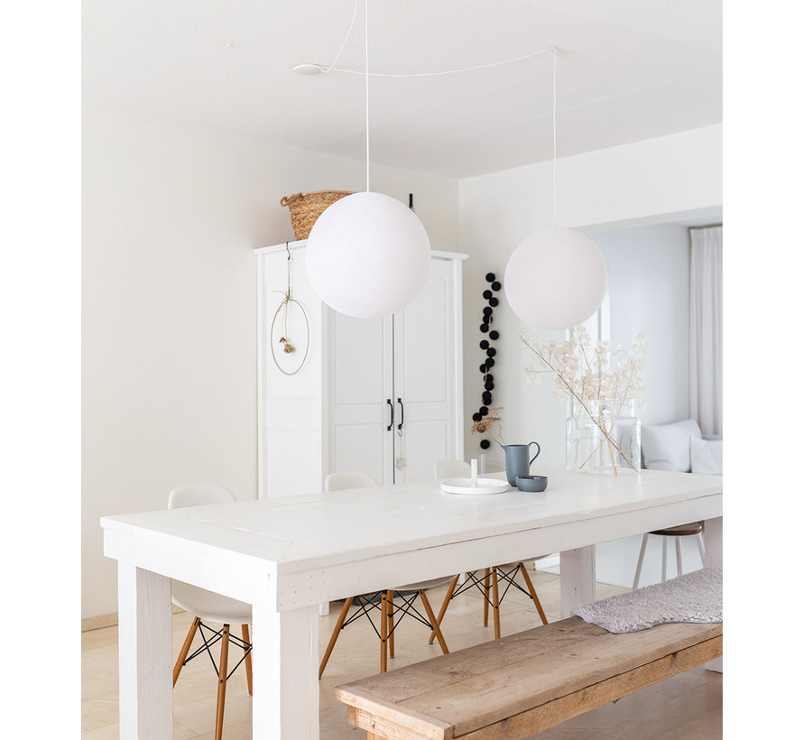 Witte cottonball hanglamp  31 cm