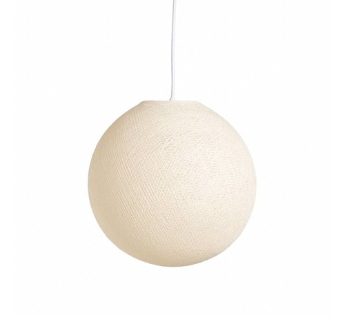 Ledr Creme cottonball hanglamp  31 cm