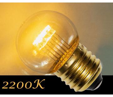 LED kogellamp 0,7W - transparant kap - E27 zeer warm wit