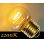 LED kogellamp - 0,7W - transparant kap - E27 2200K