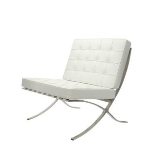 Barcelona chair wit