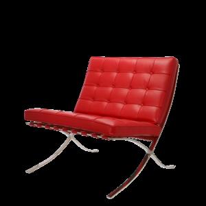 Barcelona chair premium rood