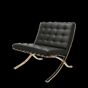 Barcelona chair Premium Gold edition zwart