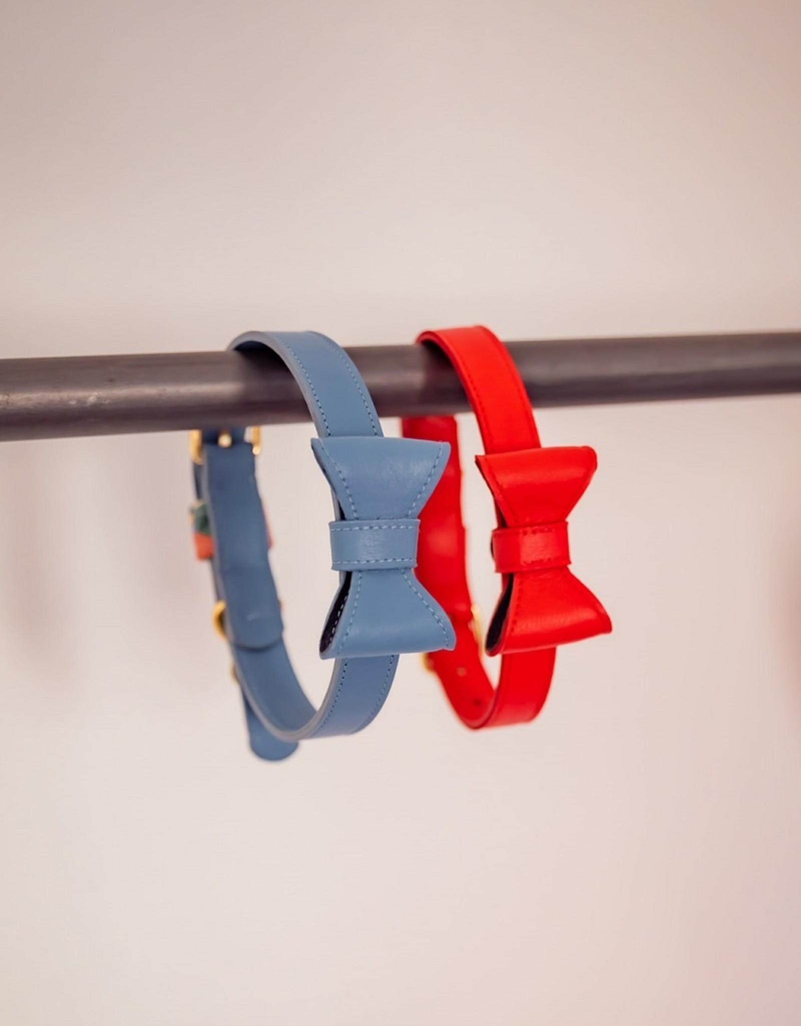Rode halsband  met strik- SORBET