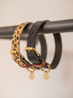 Merry Marie Zwarte halsband kroko