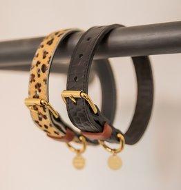 Zwarte halsband kroko
