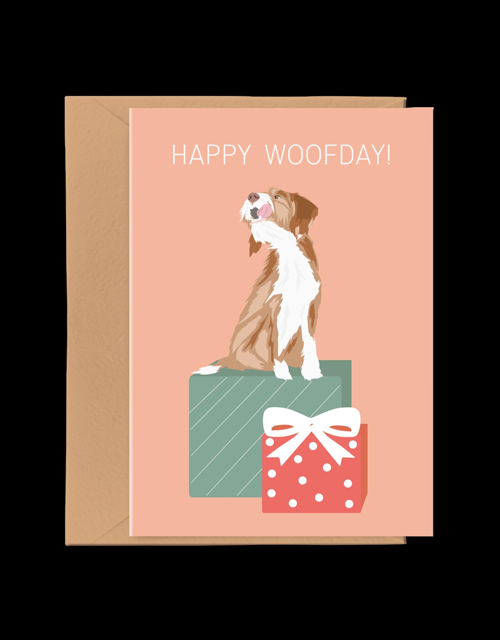Pawness Wenskaart Happy Woofday