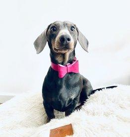 Roze halsband  met strik - OSTRICH