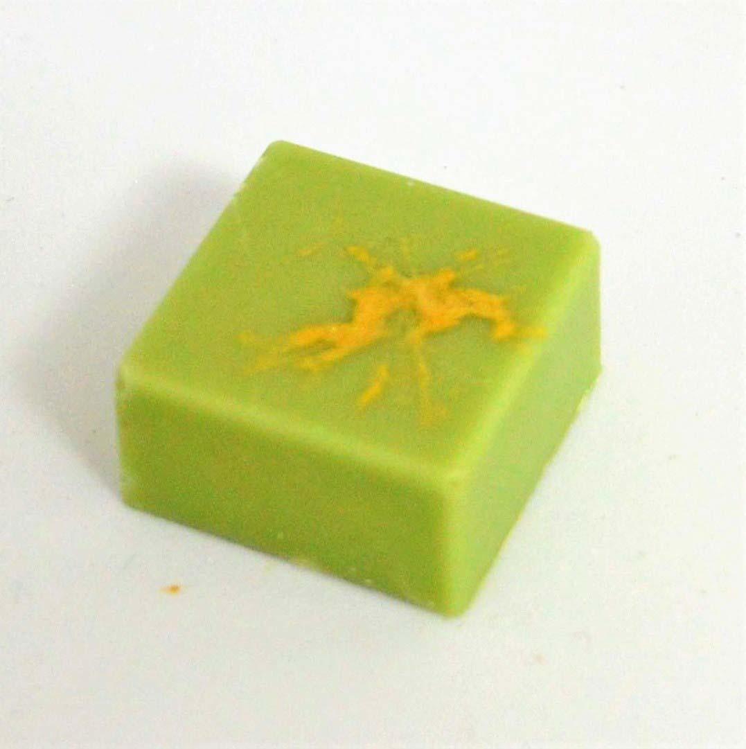 ambachtelijk vervaardigd in eigen atelier Pralines met citroen en gember