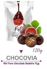 Chocovia  Chocovia Vijgen met pure chocolade 120g