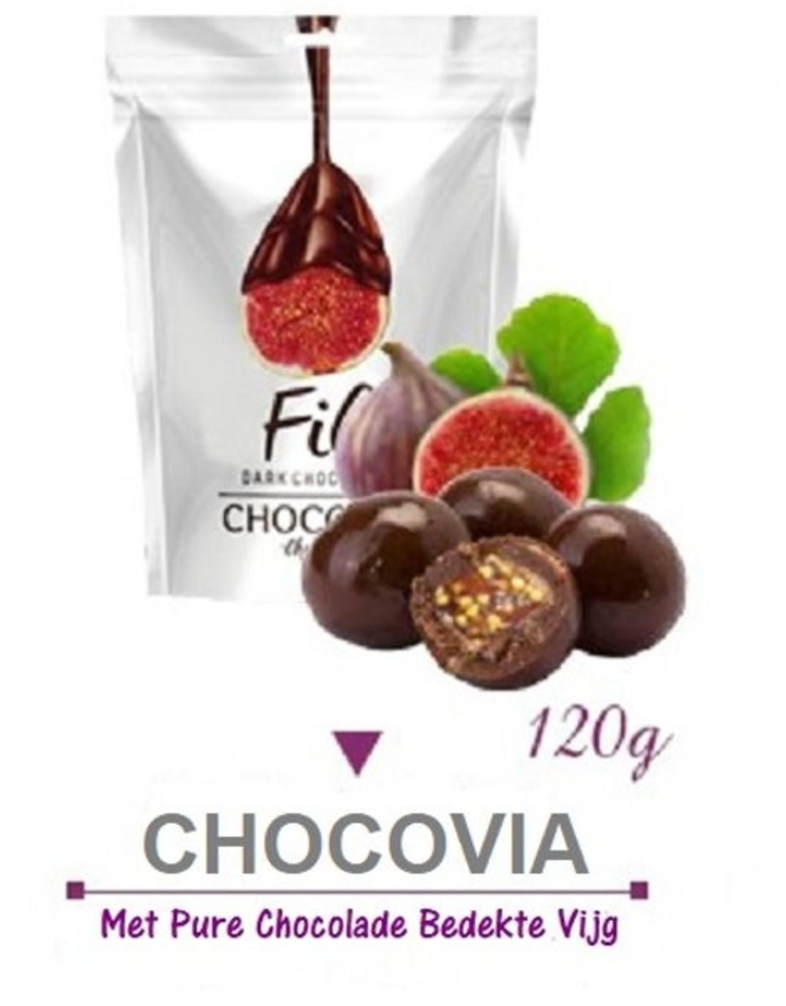 Chocovia  Chocovia Bitter Çikolata Kaplamalı İncir