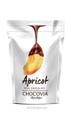 Chocovia  Chocovia Abrikozen met melkchocolade 120g