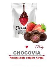 Chocovia  Chocovia  Sütlü Çikolata Kaplı Kurutulmuş Çilek