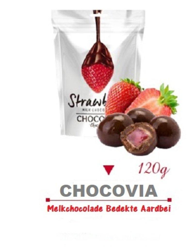 Chocovia  Chocovia Aardbei Bedekt Met Melkchocolade