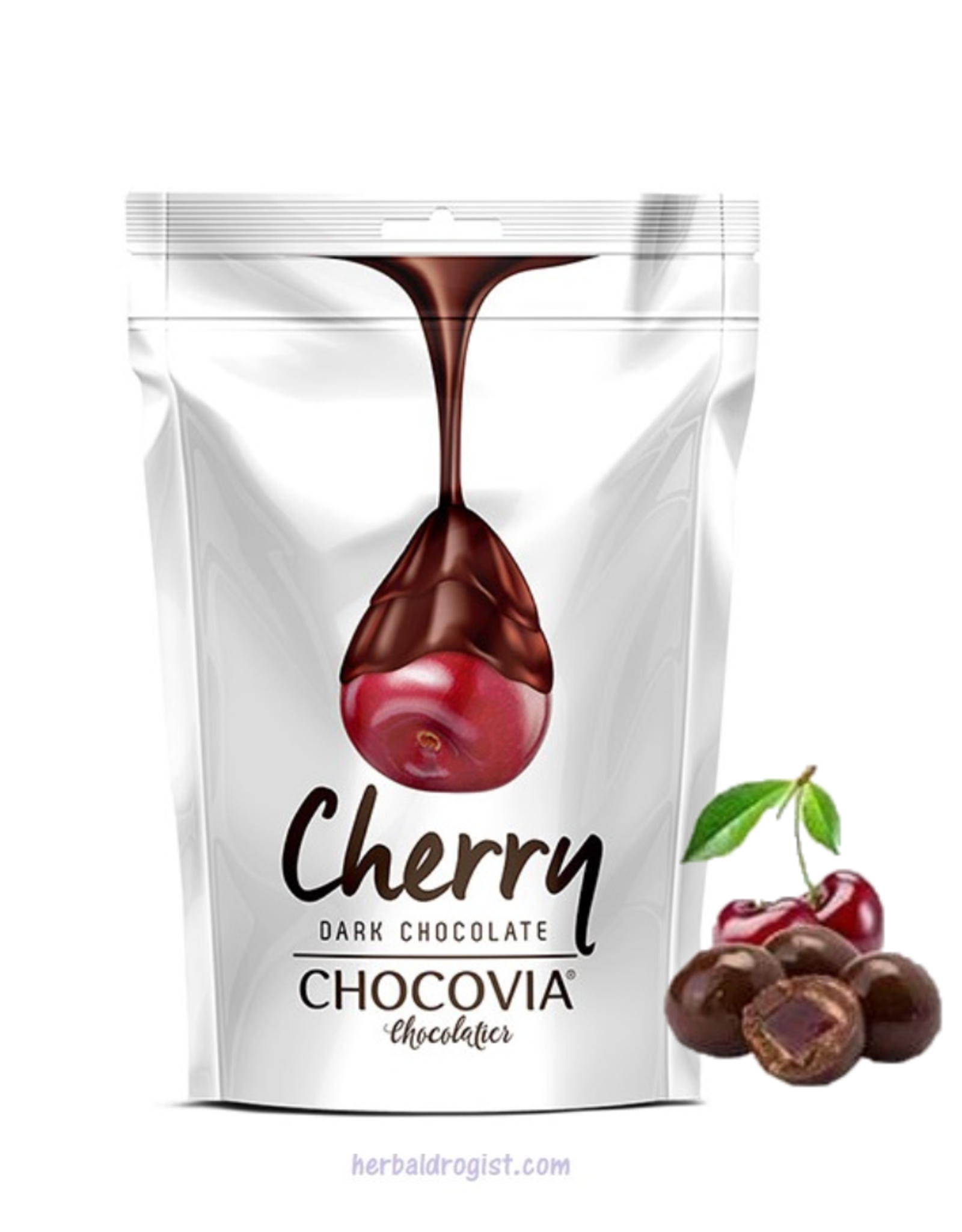 Chocovia  Chocovia Kersen  met pure chocolade 120g