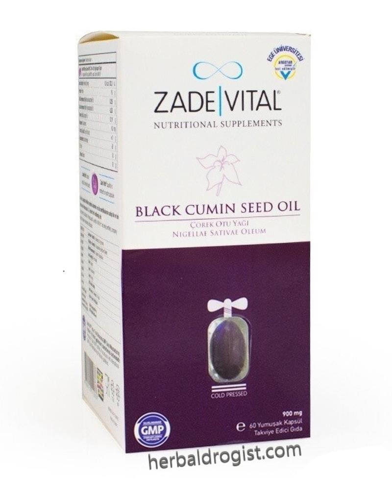 Zade Vital Zade Vital Zwarte Komijn Olie  Capsule 900 mg 60 Softgel