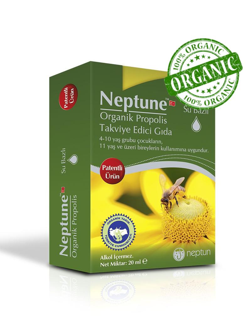 Neptun Neptüne Organik Propolis Damla 20 Ml  ( Alkolsüz)