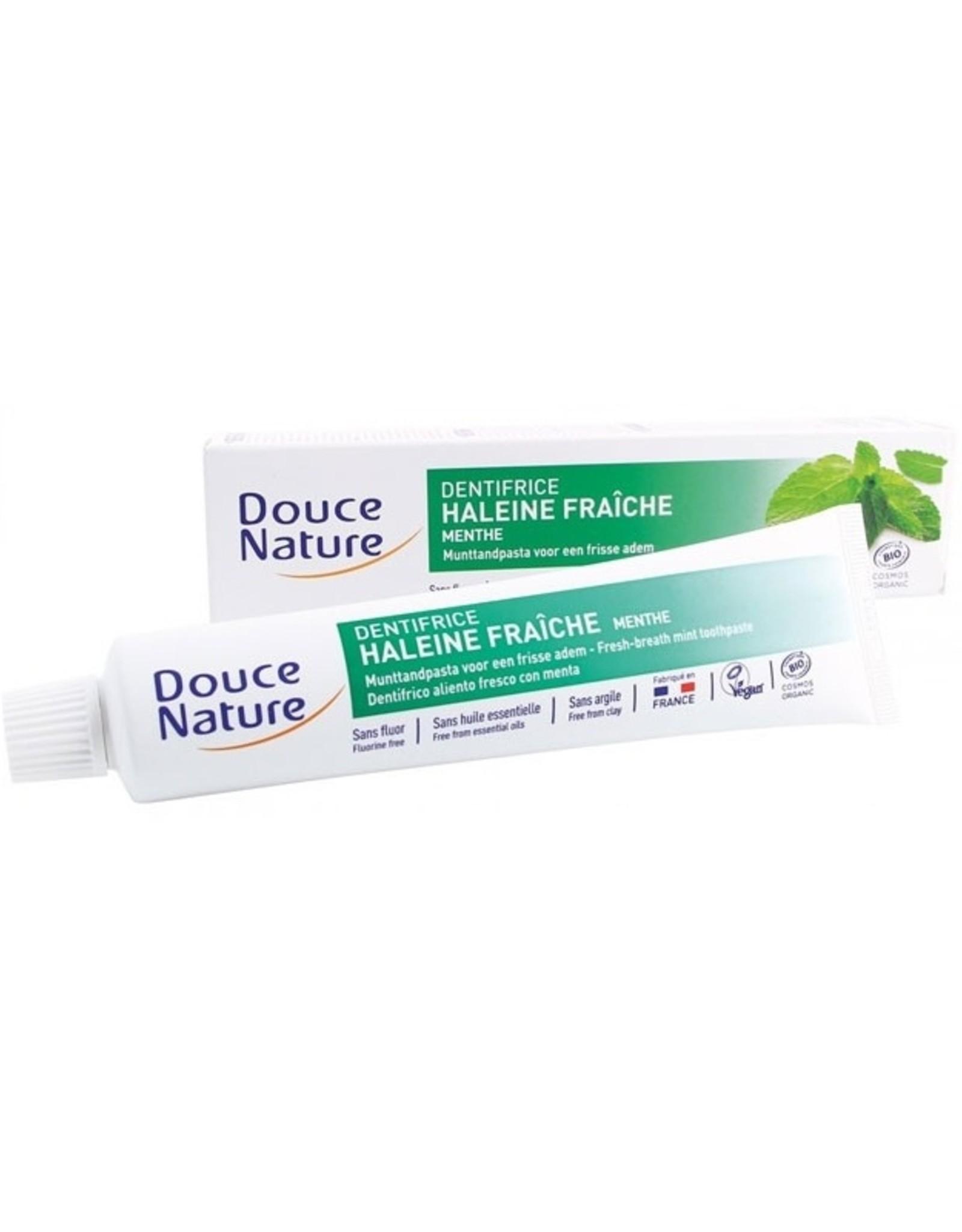Douce Nature Douce Nature  Naneli Organik Diş Macunu (Ferah Nefes için) 75 ml