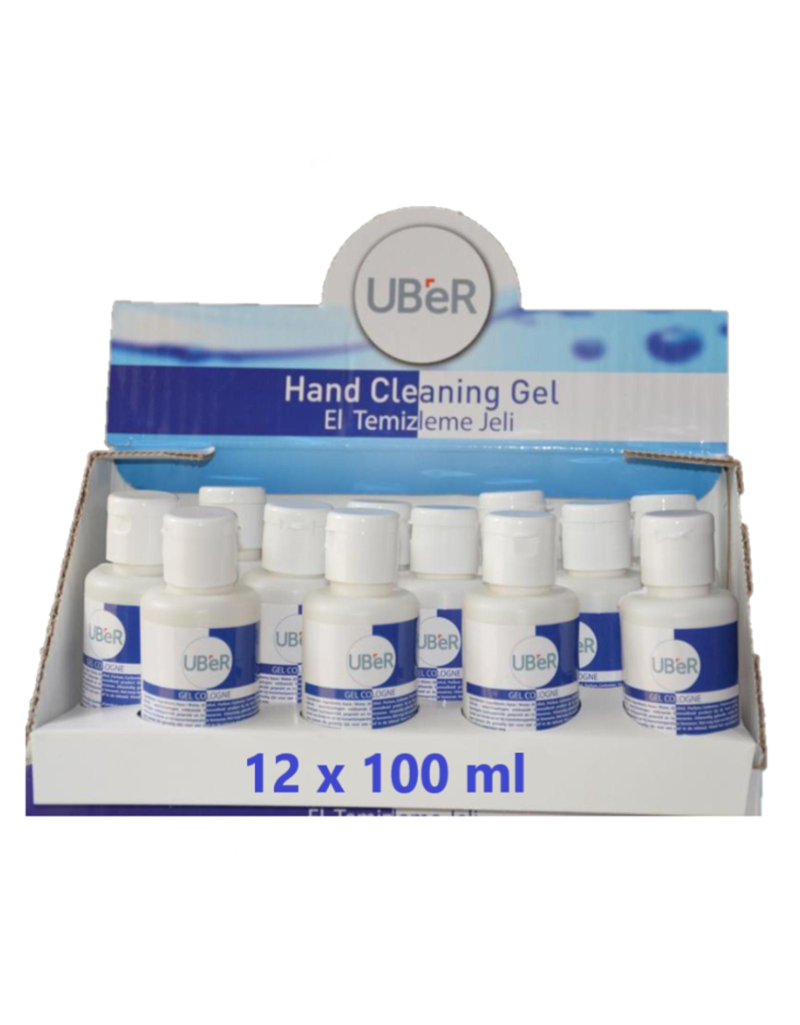 Uber handgel UBER Desinfecterende handgel  12x100 ml
