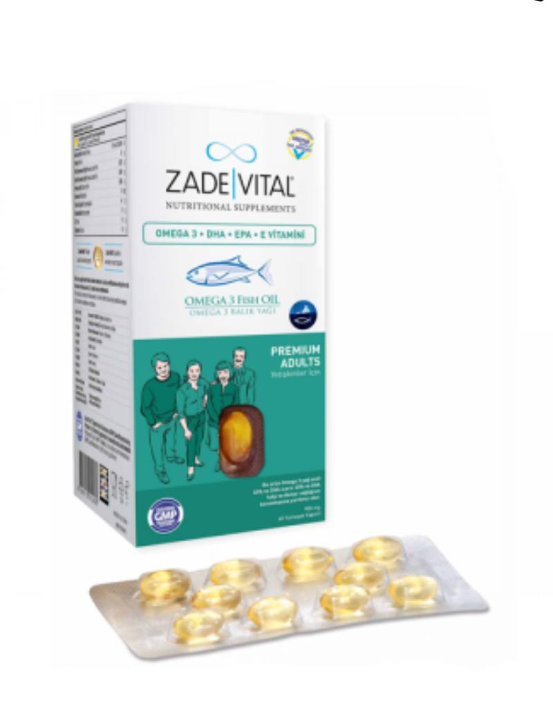 Zade Vital Zade Vital Omega 3 visolie Premium voor volwassenen- 50 zachte capsules