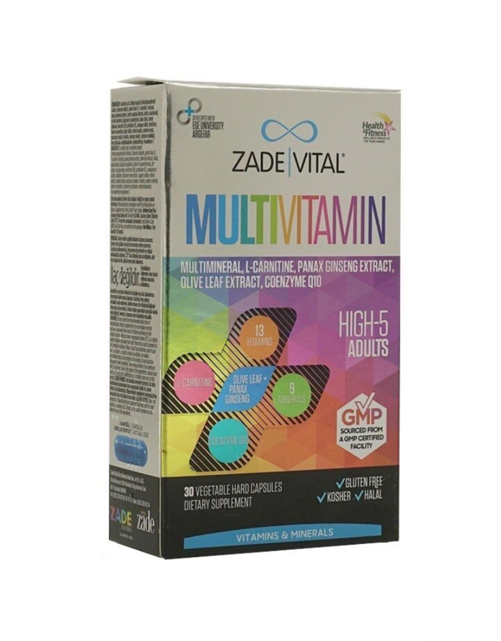 Zade Vital Zade Vital Multivitamine & Mineralen voor Volwassenen - 30 capsules