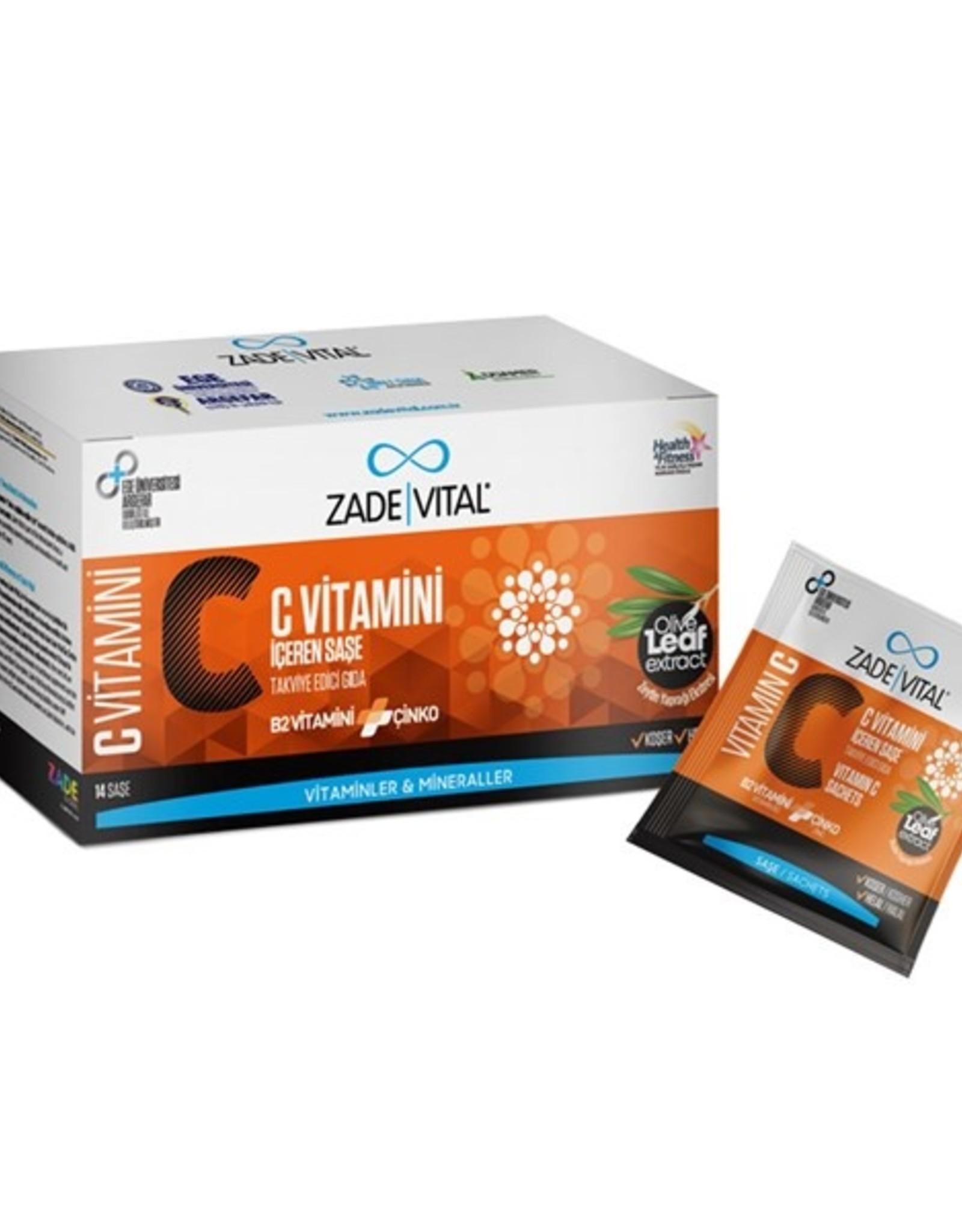 Zade Vital Zade Vital C Vitamini + B2 Vitamini + Çinko + Zeytinyağı yaprağı ekstresi 14 Saşe