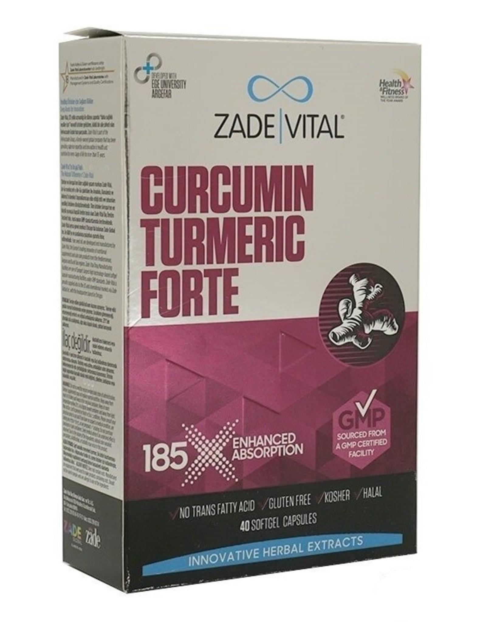 Zade Vital Zade Vital Curcumin Turmeric Forte 1000 Mg- 40 Softgel Capsules