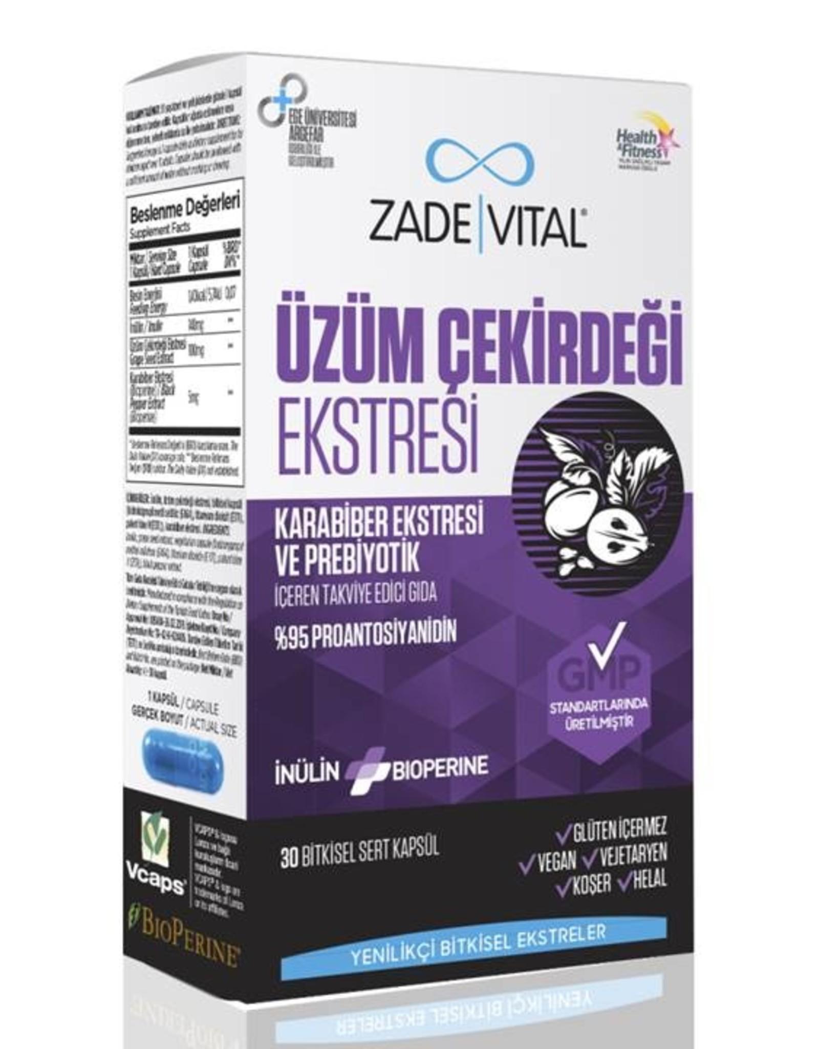 Zade Vital Zade Vital Üzüm Çekirdeği Ekstresi 30 Kapsül