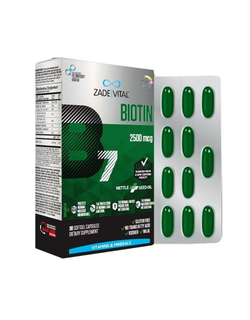 Zade Vital Zade Vital Biotin met Brandnetelzaadolie  30 zachte capsules